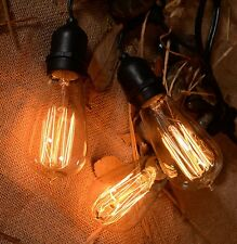 48 ft Outdoor Weatherproof String Lights Patio Lights W/Vintage Edison Bulbs