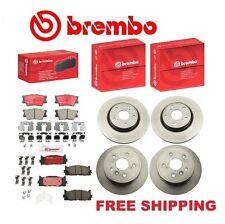 Genuine Brembo Front & Rear Rotors + Brembo Brake Pads Toyota Camry Avalon