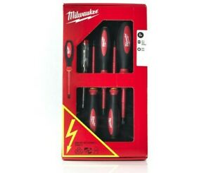 Milwaukee 4932464066 Insulated Electricians VDE Screwdriver Set Five Piece Pack