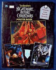 TIM BURTON'S THE NIGHTMARE BEFORE CHRISTMAS POSTER BOOK JACK SKELLINGTON