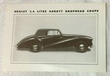 The Healey 2.4 litre Abbott Drophead Coupe, brochure/flyer