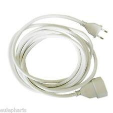 Prolongador 5 Metros Alargador de Enchufe plano 2 polos 2x1mm - Cable BLANCO