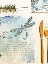 Lisa Pollock Placemats (Set Of 6) Mandala Dragonfly