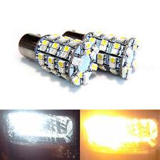 2x 1157 Dual Color Switchback Amber LED Turn Signal Light Bulb + Load Resistor