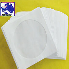 90pcs CD Disc DVD Envelope Cases Paper Bag Sleeves Clear Window EDISC 1192x90