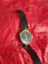 Vintage Gucci 2000M Unisex 18KGP Watch W/Black Lizard Skin Band