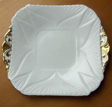 Shelley China England Regency pattern square cake plate~Dainty shape~Pristine-NR