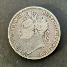 More details for rare 1822 silver george lv crown- tertio edge