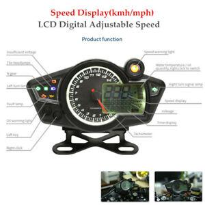 DC12V Motorcycle RPM 15000 LCD Digital Adjustable Speed Odometer Speedometer Kit
