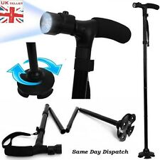 Walking Stick with Light Folding&Height Adjustable Fold able Free Standing Strap