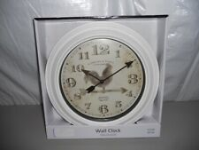 "New 11.5"" Sterling & Noble Wall Clock w/Rooster Mainstays"