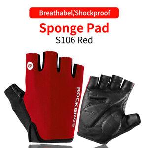 ROCKBROS MTB Road Bike Half Finger Non-slip Gloves Breathable Shockproof Gloves