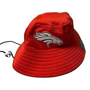 MENS Denver Broncos New Era Training Bucket Hat RED M/L PRO BOWL AFC NWT
