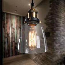 Retro Glas Hängeleuchte Vintage Pendel-Leuchte Blackburn Loft Edison Hängelampe