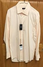 Hugo Boss Dress Shirt Sharp Fit 16 32/33 Light Orange $155 NWT