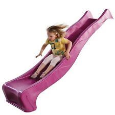 3m PINK Playground Slide + Water Feature Cubbyhouse Play Equipment Kids Slide