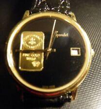 Sehr seltene Sammleruhr GIGANDET  34 mm ohne Krone 1 Gramm Gold Schweizer Bank