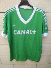 Maillot EQUIPE de FRANCE vintage ADIDAS training shirt porté années 80 maglia