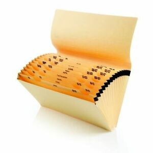 Manilla Foolscap Multipurpose Expanding File A-Z Concertina Filing Pocket Folder