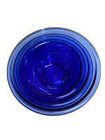 3  Pyrex Cobalt Blue Clear Nesting Mixing Bowls #322, 1L #323, 1.5L #325, 2. 5L