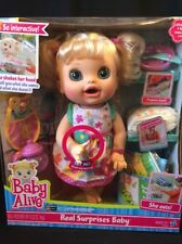 Interactive Baby Alive Doll Real Surprises Talking Speaks Spanish English 2012