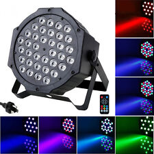 72W 36 LED Stage Light DMX512 Remote Control Flat Par Lamp Club DJ Disco Party