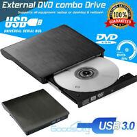 External USB 3.0 DVD RW CD Writer Drive Burner Reader Player For Laptop PC HP