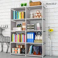 8 Cube Storage Shelf Rack Bookcase DIY Cabinet Organizer Bookshelf Display Unit