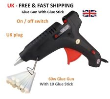 Pistola de Pegamento Caliente 100w/60w + Pegamento Caliente Palos Profesional Adhesivos Hazlo tú mismo Hobby Craft