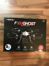 Brand New Force1 F100 Ghost RC Quadcopter Drone with 1080p HD Camera 2 Batteries