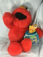Rare Talking Elmo's World Elmo & Dorothy fish Sesame Street Plush Interactive FS
