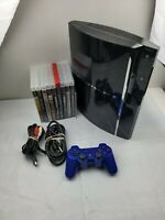 Backwards Compatible PS3 Sony PlayStation 3 80GB CECHE01 TESTED!! plus 10 Games