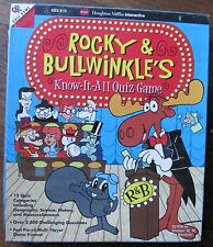 1998 Rocky & Bullwinkle's Know-It-All Quiz Game with CD Rom