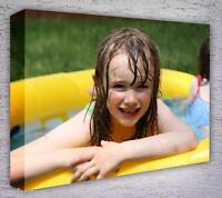 CANVAS PRINT YOUR PHOTO ON LARGE PERSONALISED 40MM DEEP BOX FRAMED 16X12IN