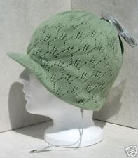 Bula Lady Green Ipod/Mp3 Audio Peak Snowboard Beanie Hat
