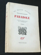 FAULKNER William PARABOLE Gallimard 58 Raimbault littérature américaine