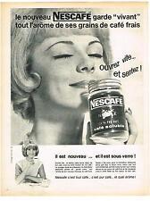 PUBLICITE ADVERTISING   1962   NESCAFE  café soluble