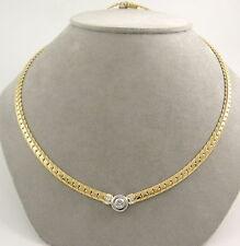 Reinheit IF Echte Diamanten-Halsketten & -Anhänger aus mehrfarbigem Gold für Damen