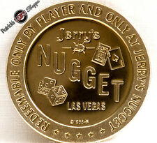 $1 PROOF-LIKE BRASS SLOT TOKEN JERRY'S NUGGET CASINO 1966 FM MINT LAS VEGAS NEW