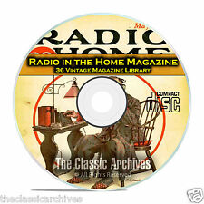 Radio In The Home, 36 Vintage Old Time Radio Magazine Collection in PDF CD B93
