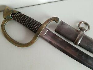 US Civil War Model 1840 Ames Type I Artillery Sword-Saber w/Scabbard-Dated 1854