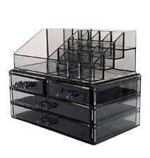 Makeup Cosmetic Organizer Storage Vanity Acrylic Case Counter Drawers Holder NEW
