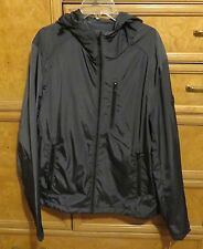 Men's Michael Kors gray polyester with hood rain coat/jacket size S new NWT