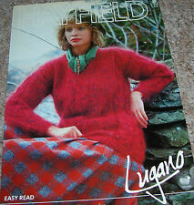 Hayfield Easy Read Knit Pattern Lady's Mohair V-Neck Patterned Sweater No 2293