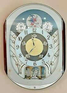 2007 Collectors edition Seiko Melodies in Motion Wall Clock Swarovski crystals