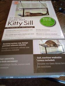 K&H 9092 - EZ Mount Kitty Window Sill, Gray, Double Stack - OPEN BOX RETURN