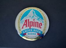 "Alpine Lager Beer Biere 3"" Pin Pinback Button Moosehead Breweries"
