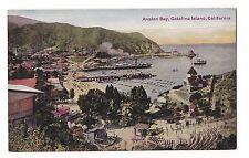 AVALON BAY Catalina Island Boats CALIFORNIA CA Postcard Divided Back Aerial