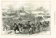 1877 Antique Print - RUSSO TURKEY WAR RETREAT FROM TERSENEK ARTILLERY GUNS (200)