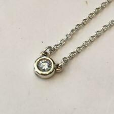 "Tiffany & Co. Elsa Peretti By The Yard 16"" Necklace Diamond Silver 925 Pendant 3"